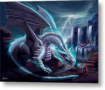 White Dragon Metal Print by Anthony Christou