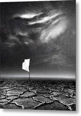 White Flag Metal Print by Jacky Gerritsen