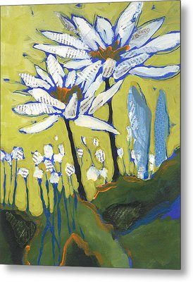 White Flowers Metal Print by Shelli Walters