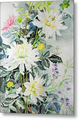 White Hibiscus Metal Print by Vishwajyoti Mohrhoff