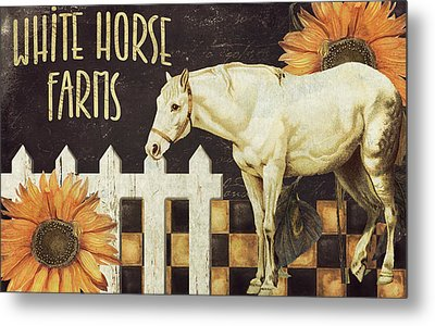 White Horse Farms Vermont Metal Print by Mindy Sommers