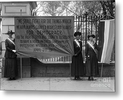 White House: Suffragettes Metal Print by Granger