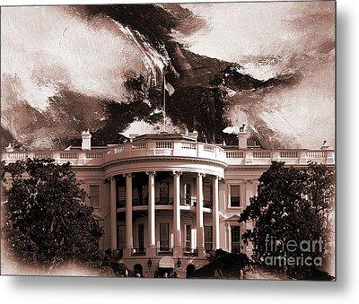 White House Washington Dc Metal Print by Gull G