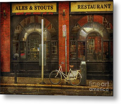 Metal Print featuring the photograph White Leopard Bicycle  by Craig J Satterlee