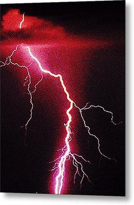 White Lightning Metal Print by Vicky Brago-Mitchell