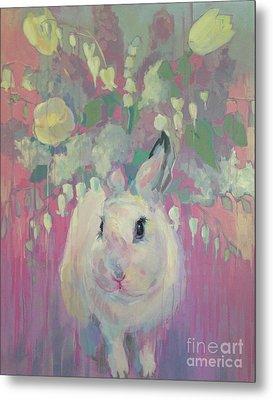 White Lilacs Metal Print by Kimberly Santini