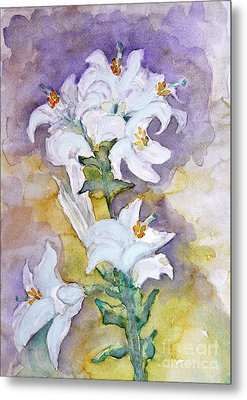 White Lilies Metal Print by Jasna Dragun