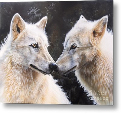 White Magic Metal Print by Sandi Baker