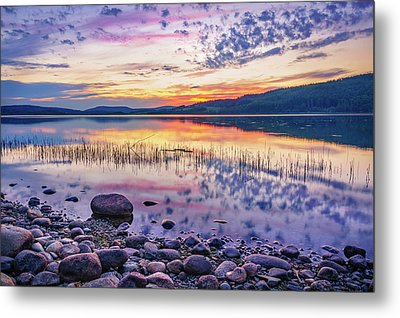 Metal Print featuring the photograph White Night Sunset On A Swedish Lake by Dmytro Korol