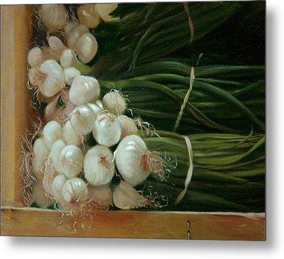 White Onions Metal Print by Michael Lynn Adams