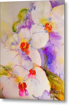 White Orchids Metal Print by Betty M M Wong