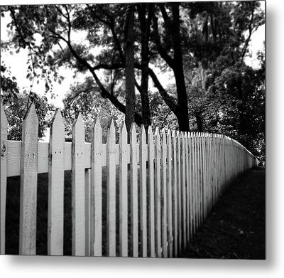 White Picket Fence- By Linda Woods Metal Print