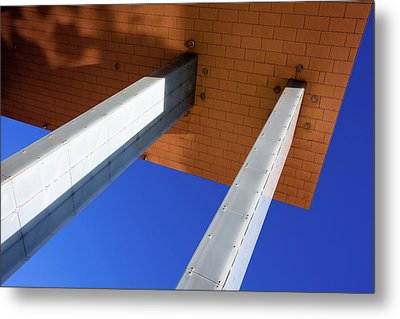 Metal Print featuring the photograph White Pillars by Stefan Nielsen