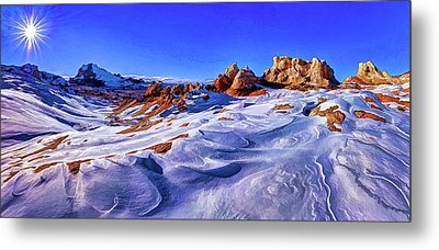 White Pocket Winter Metal Print by ABeautifulSky Photography