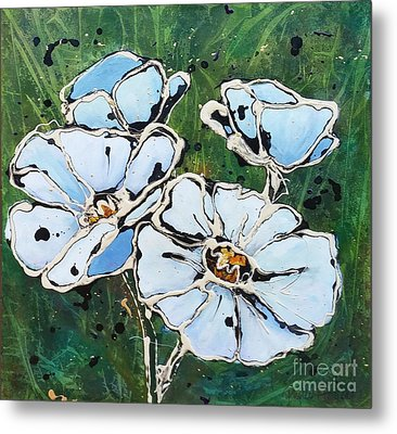 White Poppies Metal Print by Phyllis Howard