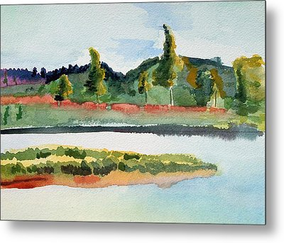 White River At Royalton After Edward Hopper Metal Print