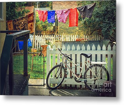 Metal Print featuring the photograph White River Bicycle by Craig J Satterlee