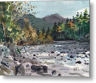White River In Autumn Metal Print