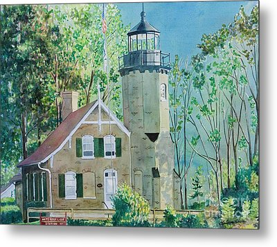 White River Light Metal Print by LeAnne Sowa