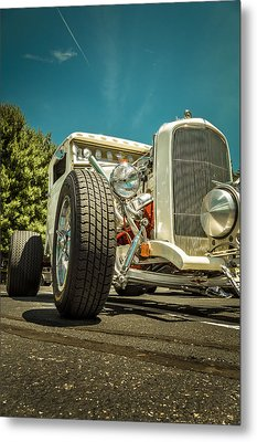 White Rod Metal Print