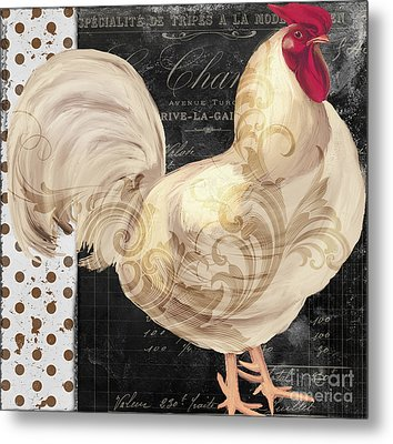 White Rooster Cafe I Metal Print by Mindy Sommers