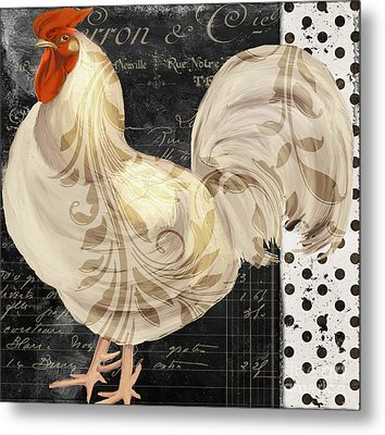 White Rooster Cafe II Metal Print by Mindy Sommers