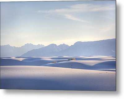 White Sands Blue Sky Metal Print by Peter Tellone