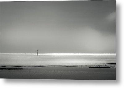 White Sandy Shore- B/w Metal Print by Marvin Spates