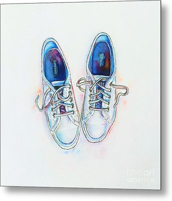 White Sneakers Metal Print by Willow Heath