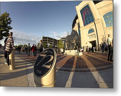 White Sox Fans Before A Game Metal Print by Sven Brogren