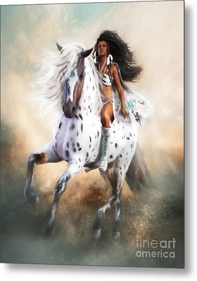 Metal Print featuring the digital art White Storm by Shanina Conway