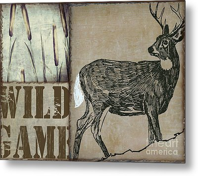 White Tail Deer Wild Game Rustic Cabin Metal Print by Mindy Sommers
