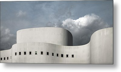 White Theater Metal Print by Gilbert Claes