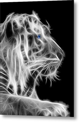 Metal Print featuring the photograph White Tiger by Shane Bechler