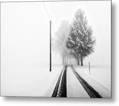 White Tree Gate Metal Print by Franz Bogner