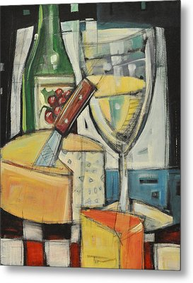White Wine And Cheese Metal Print by Tim Nyberg