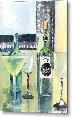 White Wine Metal Print by Arline Wagner