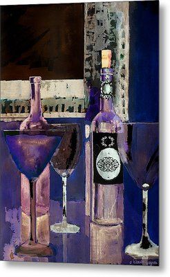 White Wine Inverted Metal Print by Arline Wagner