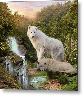 White Wolf Falls2 Metal Print