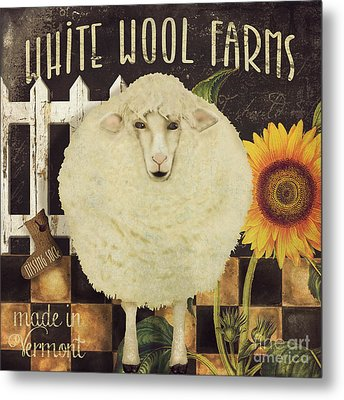 White Wool Farms Metal Print