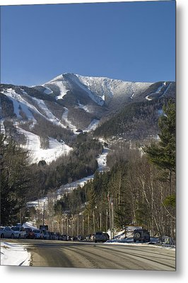 Whiteface Ski Mountain From The Road In Upstate New York Near Lake Placid Metal Print by Brendan Reals