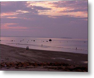 Whitehorse Beach - Sunset Metal Print by Nancy Ferrier
