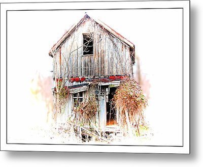 Whiteout In Opequon Metal Print by Suzanne Stout