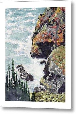 Whitewater Coast Metal Print