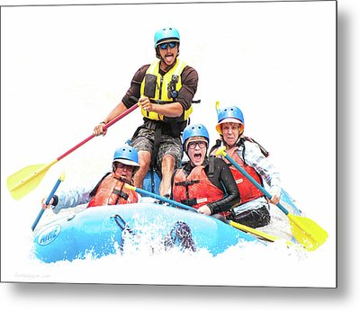Metal Print featuring the photograph Whitewater Faces by Britt Runyon