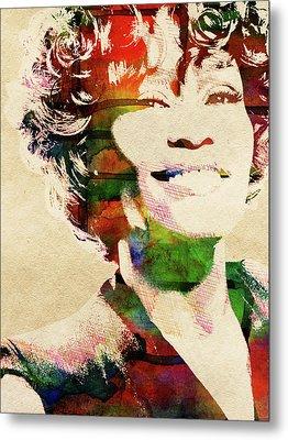 Whitney Houston Metal Print by Mihaela Pater