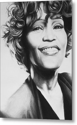Whitney Houston Metal Print