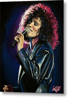 Whitney Houston Metal Print by Tom Carlton