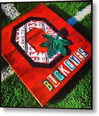 Who Are You Rooting For Tonight?  #osu Metal Print by Design Turnpike