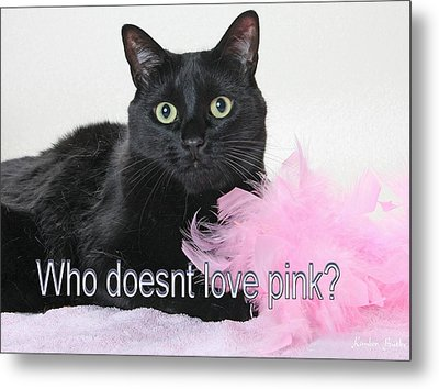Who Doesnt Love Pink  Metal Print